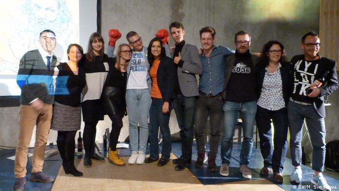 Участники немецко-российского слэма в Бонне