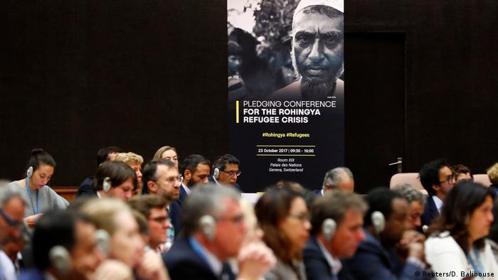 Governos e Nações Unidas participam de conferência de angariamento de doações para combater a crise dos rohingyas