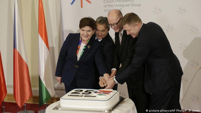 Tschechische Republik Visegrad Treffen