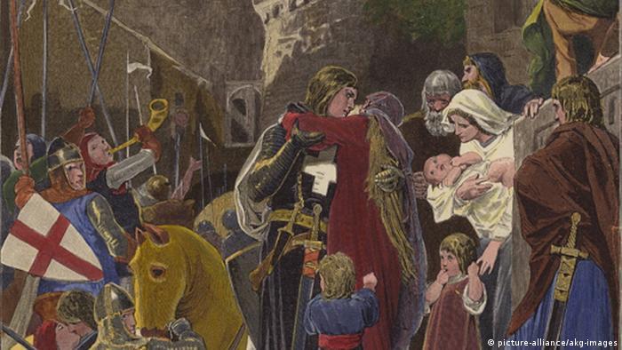 Отправление Людвига IV в Крестовый поход. Александр Цик, 1891 год