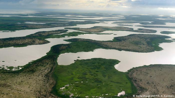 Aerial view of Lake Chad