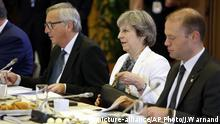 Belgien EU Brexit Theresa May Jean-Claude Juncker