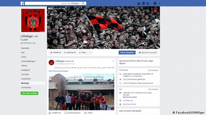 Screenshots Facebook | USMAlger (Facebook/USMAlger)