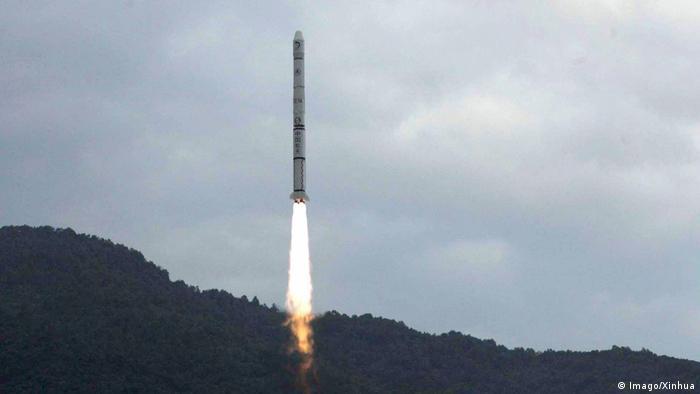 China Raumfahrt Start der CNSA-Raumsonde Chang'e 1 im Jahr 2007