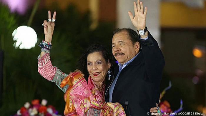 Nicaragua Vizepräsidentin Rosario Murillo und Präsident Daniel Oterga in Managua