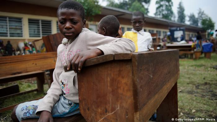 Demokratische Republik Kongo Schulkinder in Goma (Getty Images/AFP/P. Moore)