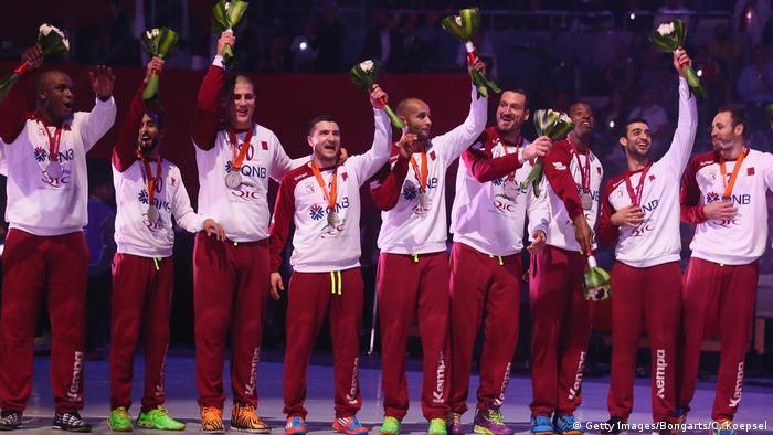 Katar Handball-WM in Doha - Katarische Mannschaft