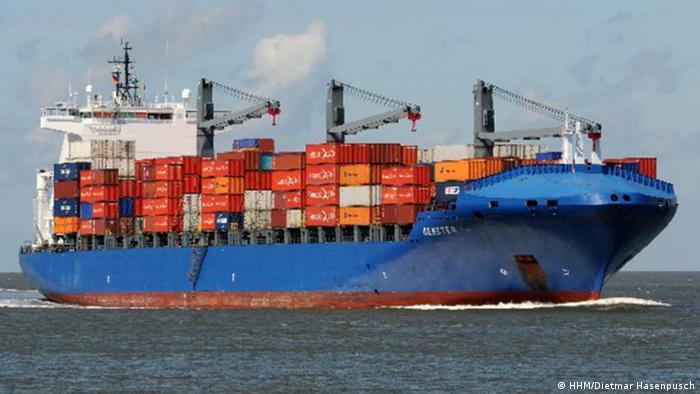 Containerschiff Demeter (HHM/Dietmar Hasenpusch)