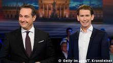 Österreich Heinz-Christian Strache und Sebastian Kurz