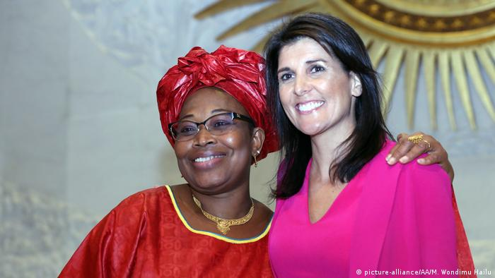 Nikki Haley with AU Commissioner for Political Affairs Minata Semate Cessouma