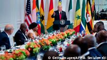 USA Donald Trump spricht vor afrikanischen Staatschefs