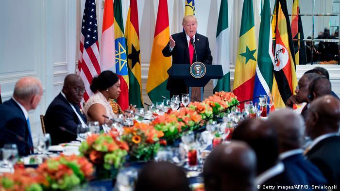 Le président Donald Trump s'exprime lors d'une rencontre à New York avec des dirigeants africains (20.09.2017)