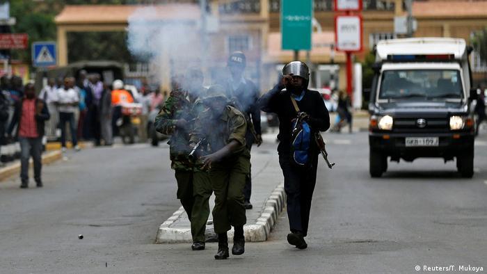 Police fire bullets in Nairobi