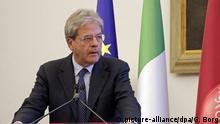 Italien Premierminister Paolo Gentiloni