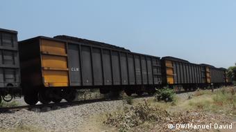 Transport von Steinkohle, Mosambik