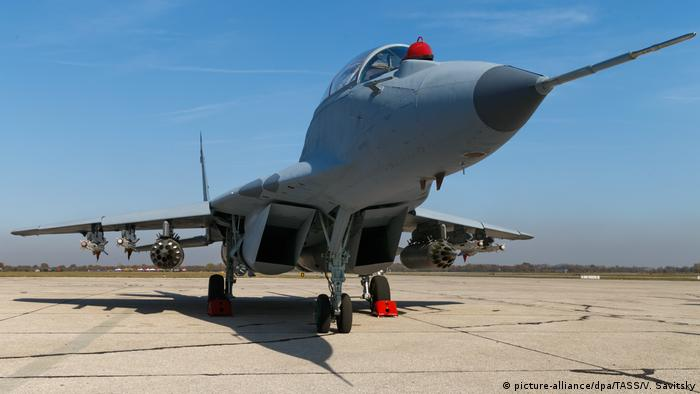 A MiG-29 fighter jet