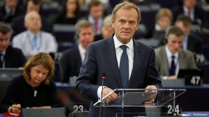 Europaparlament in Straßburg | Donald Tusk (Reuters/C. Hartmann)