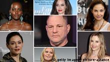 Symbolbild Bildkombi Opfer sexuelle Belästigung Harvey Weinstein