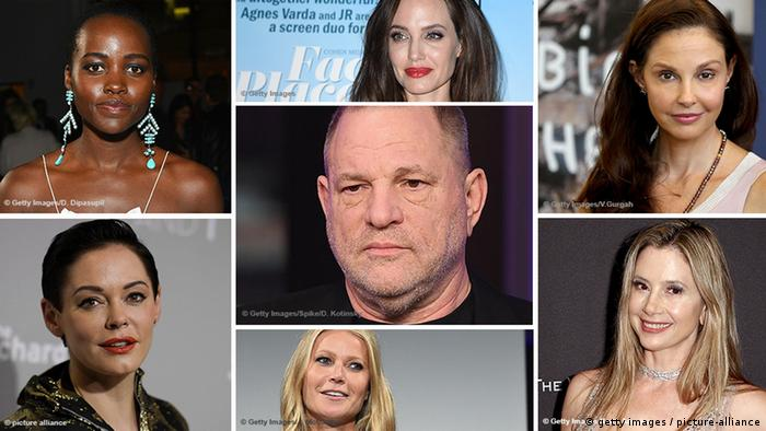 Symbolbild Bildkombi Opfer sexuelle Belästigung Harvey Weinstein (getty images / picture-alliance)