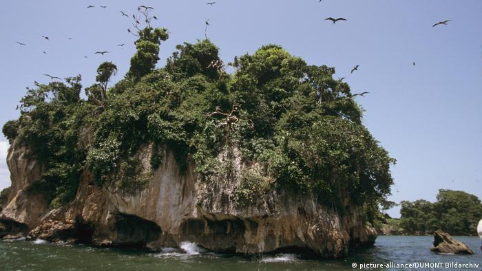 Dominikanische Republik Kalksteinkegel an der Küste des Nationalparks Los Haitises