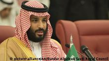 Saudi-Arabien Prinz Mohammad bin Salman al-Saud (picture-alliance/AA/Bandar Algaloud/Saudi Royal Council)