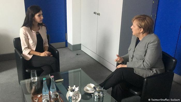 Merkel meets Dilek Mayatürk Yücel