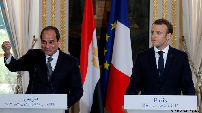 Paris al-Sisi bei Macron PK