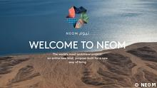 Screenshot discoverneom.com NEOM Projekt
