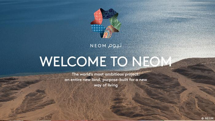 Screenshot discoverneom.com NEOM Projekt (NEOM)