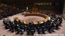 24.10.2017 *** The UN Security Council votes to extend investigations into who is responsible for chemical weapons attacks in Syria at the United Nations on October 24, 2017. Russian Ambassador to the UN Vassily Nebenzia voted no to the resolution. / AFP PHOTO / TIMOTHY A. CLARY (Photo credit should read TIMOTHY A. CLARY/AFP/Getty Images)