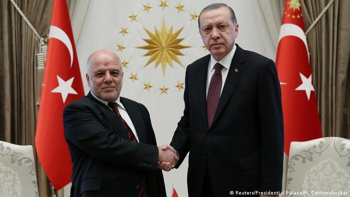 Türkei Haider al-Abadi, Premierminister Irak & Tayyip Erdogan in Ankara (Reuters/Presidential Palace/M. Cetinmuhurdar)