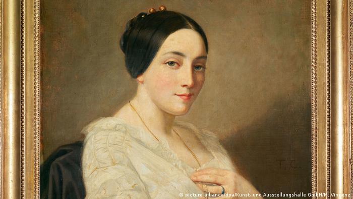 Porträt einer jungen Frau des Künstlers Thomas Couture (picture alliance/dpa/Kunst- und Ausstellungshalle GmbH/M. Vincenz)