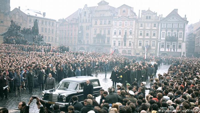 Tschechoslowakei 1969, Beerdigung Jan Palach, Selbstverbrennung