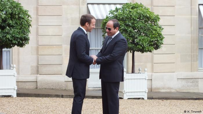 Frankreich ägyptischer Präsident Al Sissi in Paris (H. Tiruneh)