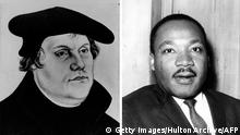 Bildcombo Martin Luther und Martin Luther King