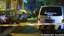 Ukraine Kiew Auto Explosion