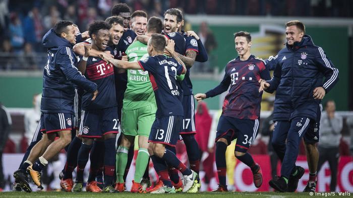 DFB-Pokal 2017/18   RB Leipzig - Bayern München   Jubel