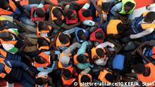 Mittelmeer Gerettete Flüchtlinge