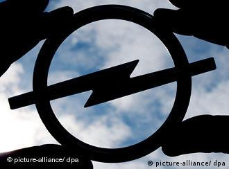 A silhouette of the Opel logo.