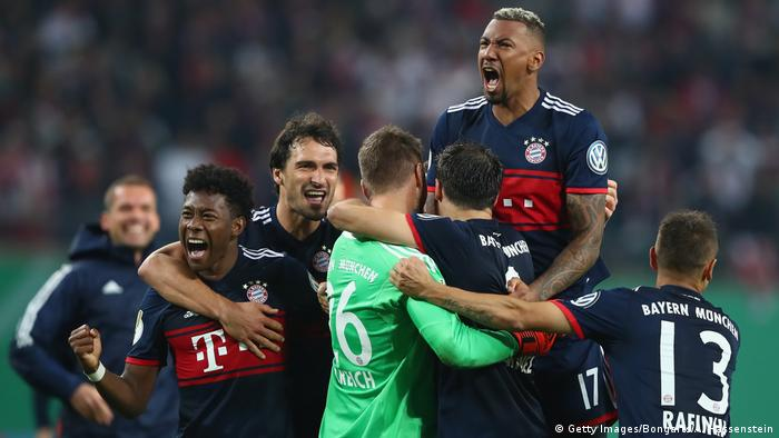 DFB-Pokal 2017/18 | RB Leipzig - Bayern München | Jubel (Getty Images/Bongarts/A. Hassenstein)