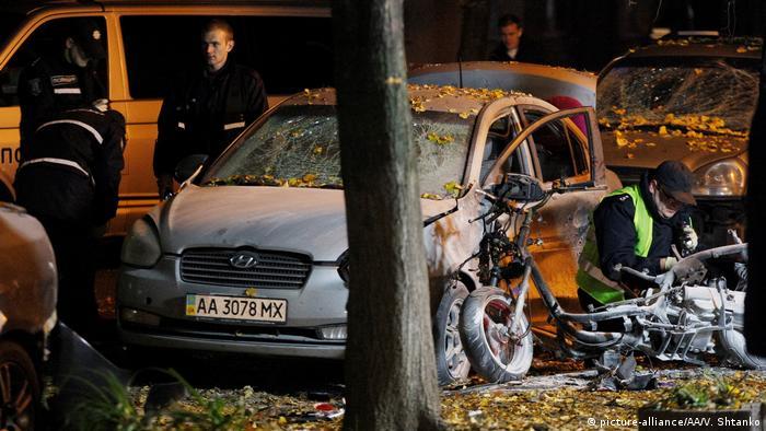 Фото з місця вибуху у Києві