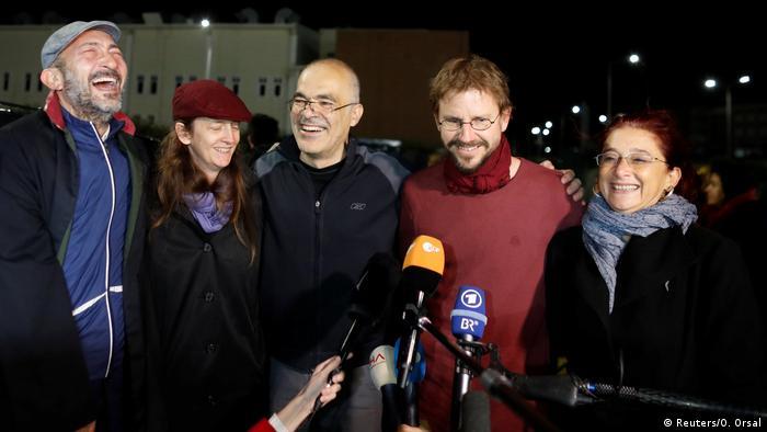 Türkei Istanbul Freilassung Peter Steudtner (Reuters/O. Orsal)
