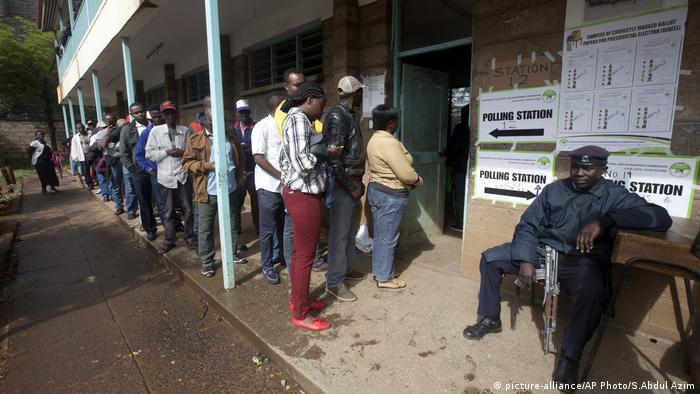 Kenia Wahlen Wähler Wahl-Büro