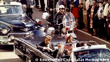 FILE PHOTO: U.S. President John F. Kennedy, First Lady Jaqueline Kennedy and Texas Governor John Connally ride in a liousine moments before Kennedy was assassinated, in Dallas, Texas November 22, 1963. Walt Cisco/Dallas Morning News/Handout/File Photo via REUTERS. THIS IMAGE HAS BEEN SUPPLIED BY A THIRD PARTY.