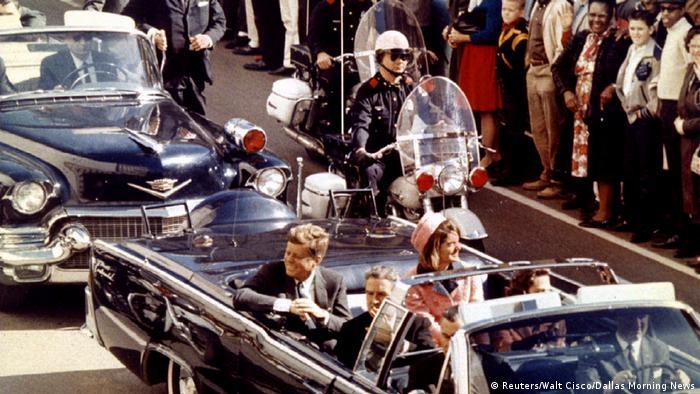 Kennedy's motorcade in Dallas
