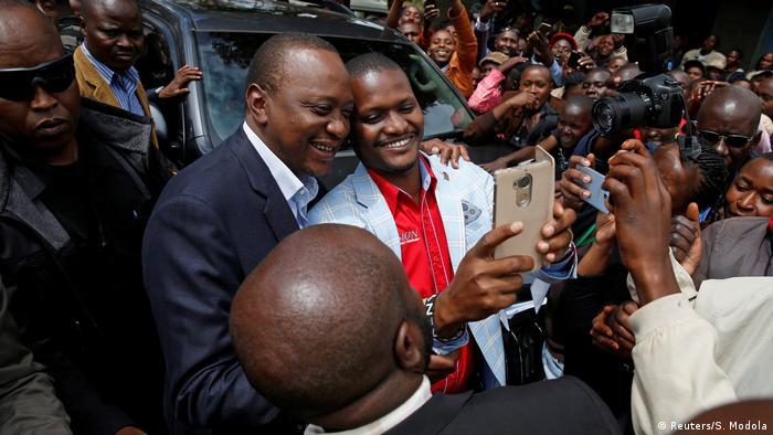Kenia Wahl - Präsident Uhuru Kenyatta