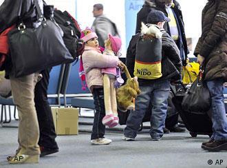 ورود نخستین گروه پناهجویان عراقی در هانوفر آلمان