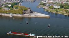 Deutschland Seilbahn mit Panoramablick auf das Deutsche Eck