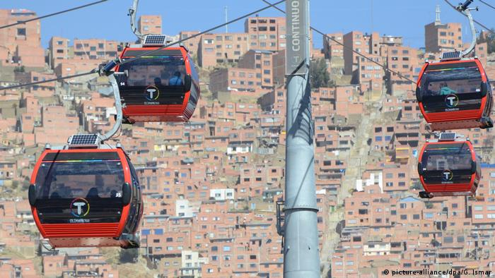 Bolivien Seilbahn in La Paz