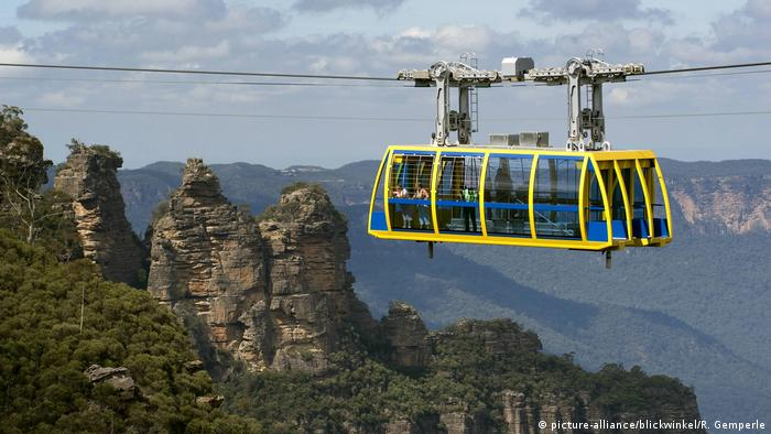 Australien Seilbahn im Blue Mountains Nationalpark (picture-alliance/blickwinkel/R. Gemperle)